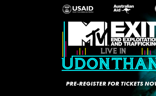MTV EXIT Set to Rock Udon Thani with a Free Concert to Raise Awareness of Human Trafficking